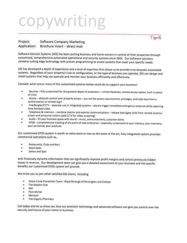 B2B B2C Brochure Inserts Direct mail